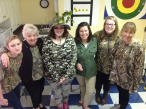 "We can't ""camouflage"" our school spirit on Camo Day!"